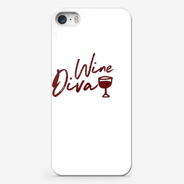 Чехол iPhone «Wine Diva»