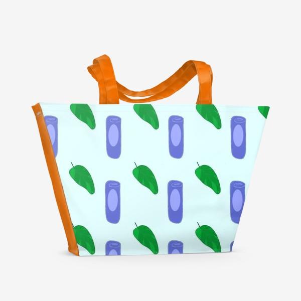 Пляжная сумка «Паттерн Жимолость»