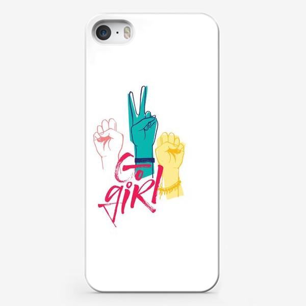Чехол iPhone «Вперед дечонки!»