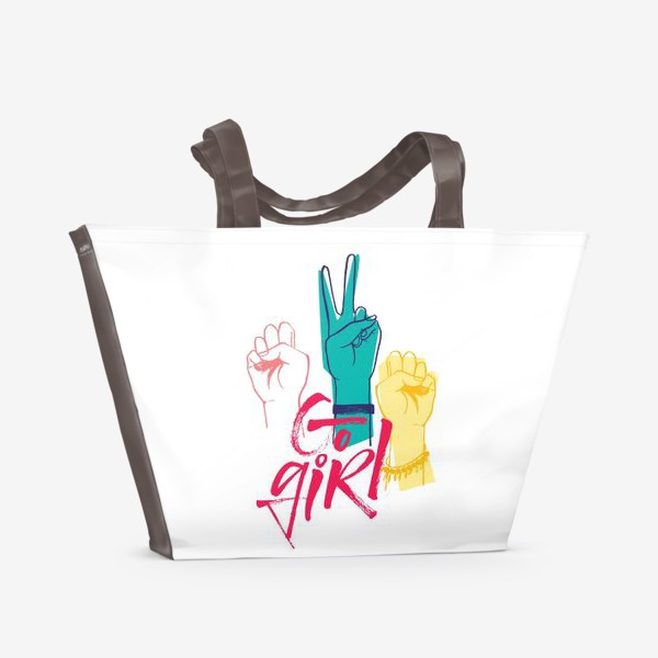 Пляжная сумка «Вперед дечонки!»