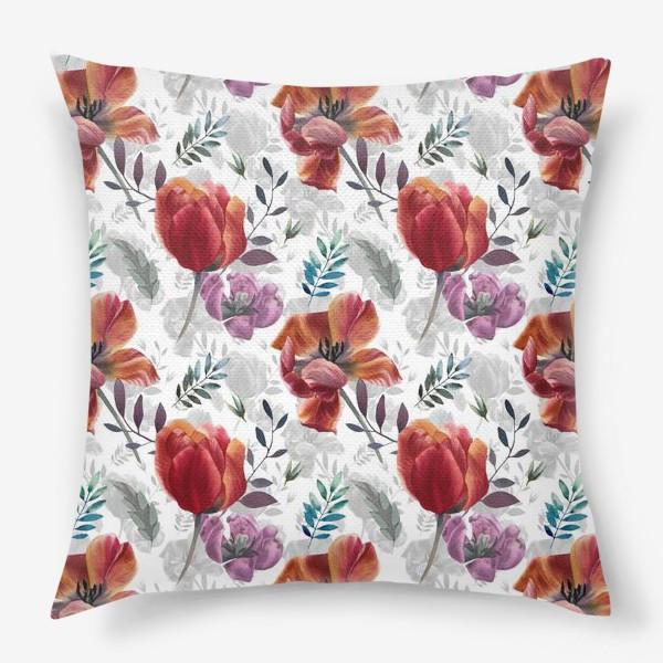 Подушка «Spring tulips»