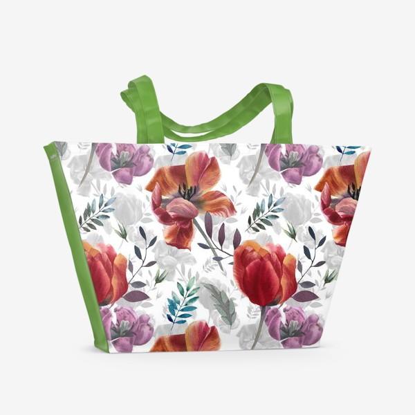 Пляжная сумка «Spring tulips»