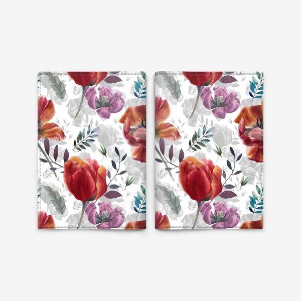 Обложка для паспорта «Spring tulips»