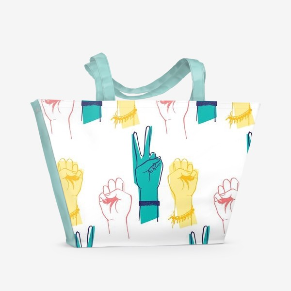 Пляжная сумка «Вперед девочки!»