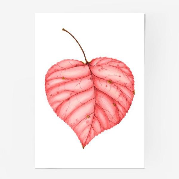 Постер «Яркий лист осени»