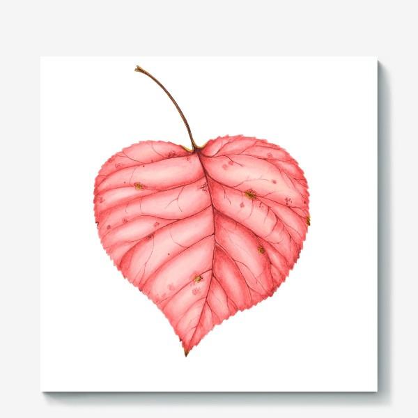 Холст «Яркий лист осени»