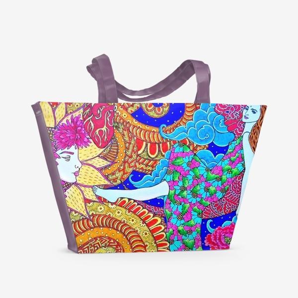 Пляжная сумка «Духовный поиск закончился осознанием»
