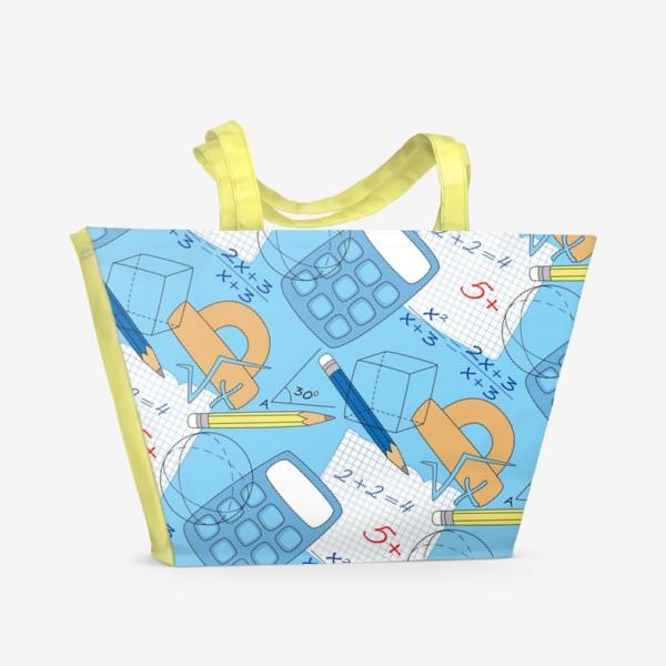 Пляжная сумка «Математические элементы»