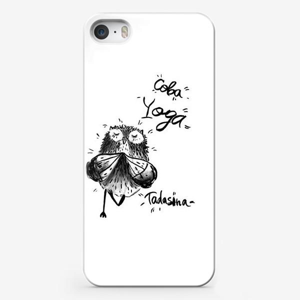 Чехол iPhone «Сова Йога»
