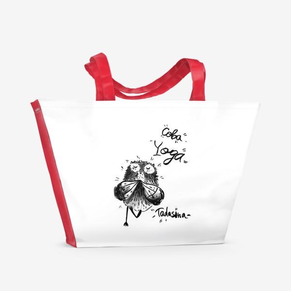 Пляжная сумка «Сова Йога»