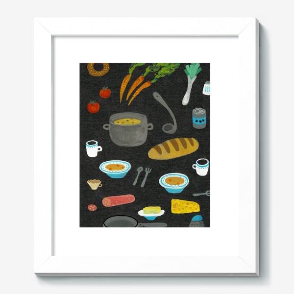 Картина «вкусная и полезная еда»