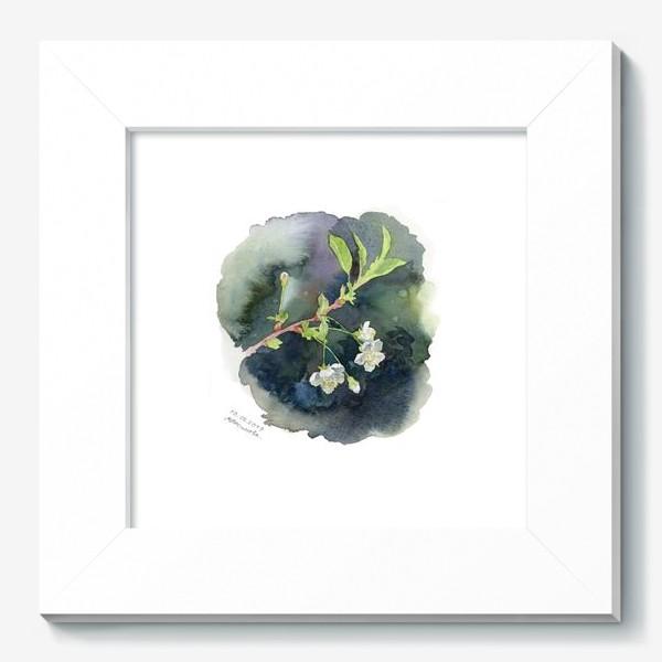 Картина «Цветущая вишня акварельная»