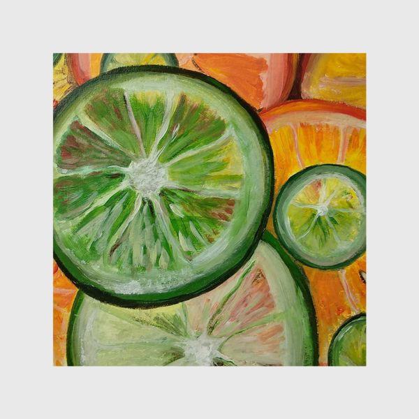 Шторы «Лимон и апельсин»