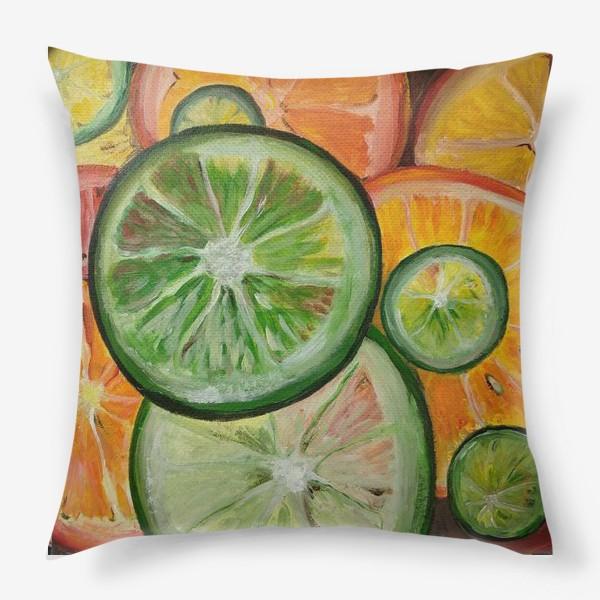 Подушка «Лимон и апельсин»