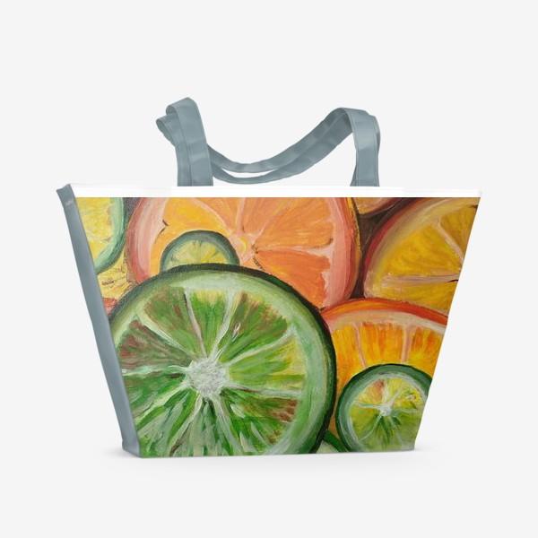 Пляжная сумка «Лимон и апельсин»