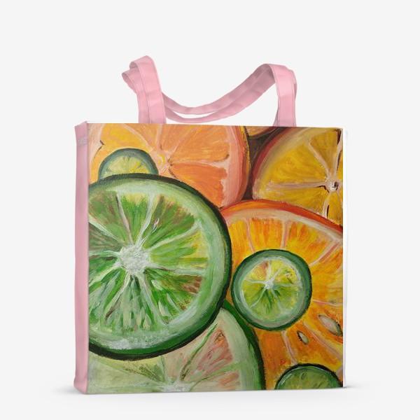 Сумка-шоппер «Лимон и апельсин»