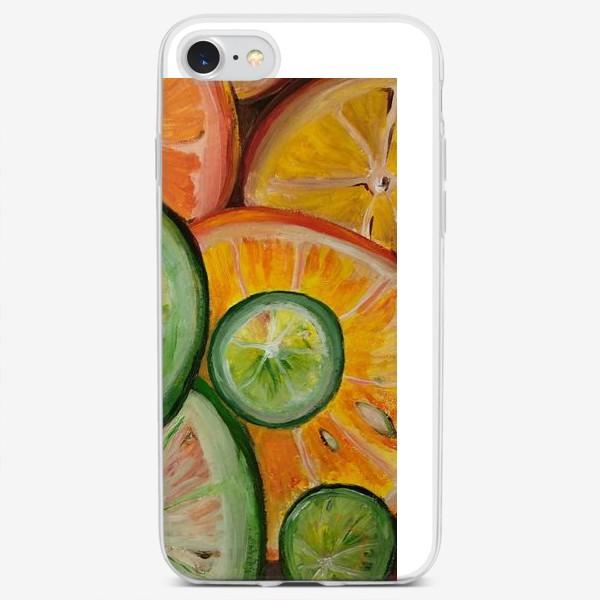 Чехол iPhone «Лимон и апельсин»