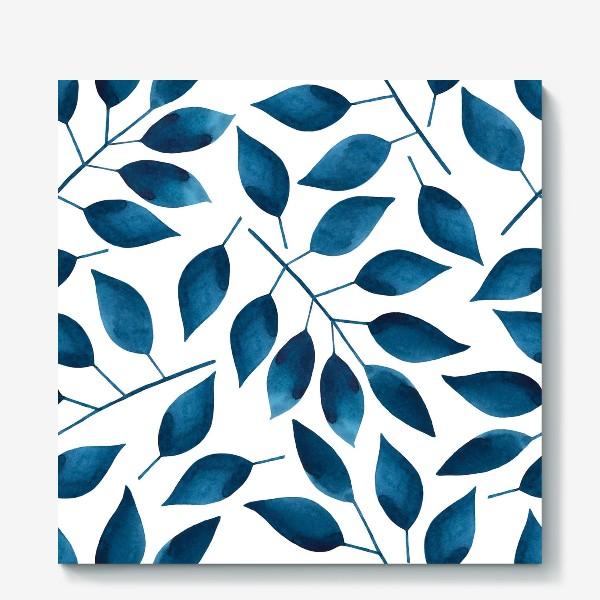 Холст «Синие листья»