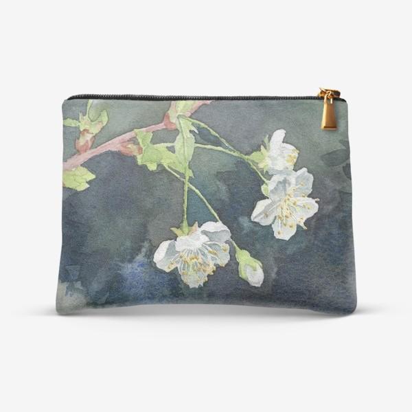Косметичка «Цветущая вишня акварельная»