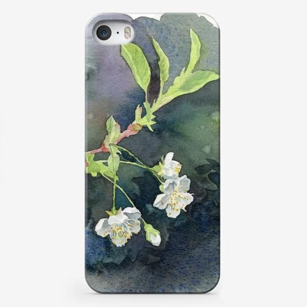 Чехол iPhone «Цветущая вишня акварельная»