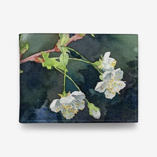 Кошелек «Цветущая вишня акварельная»