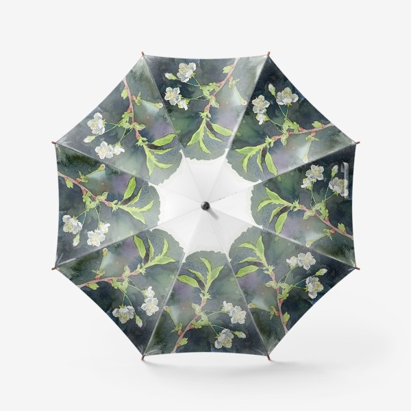 Зонт «Цветущая вишня акварельная»