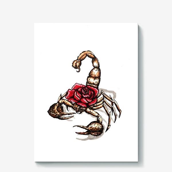 Холст «Подарок для скорпиона»