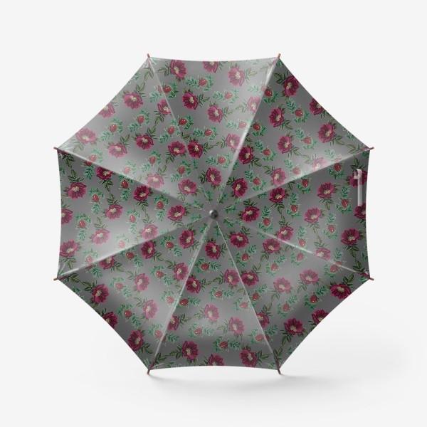 """Зонт «""""Шиповник на сером""""»"""