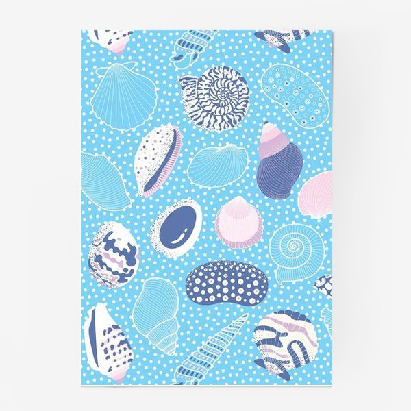 Постер «Морские ракушки паттерн»