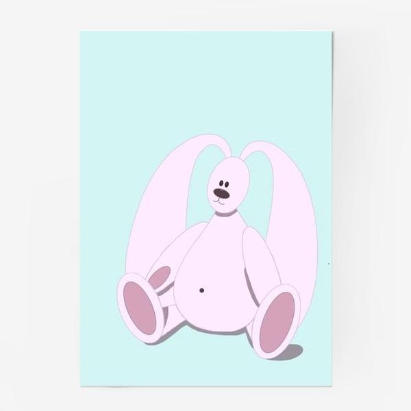 Постер «Розовый зайчик»