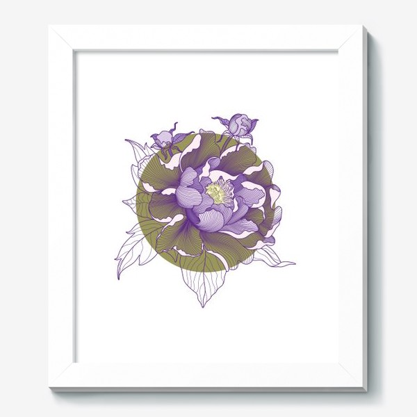 Картина «Цветок пион»