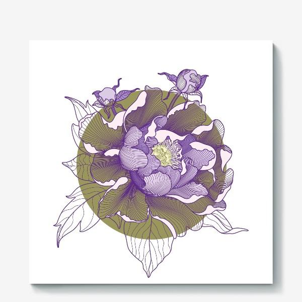 Холст «Цветок пион»