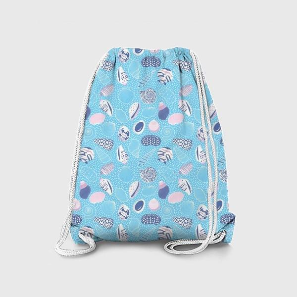 Рюкзак «Морские ракушки паттерн»