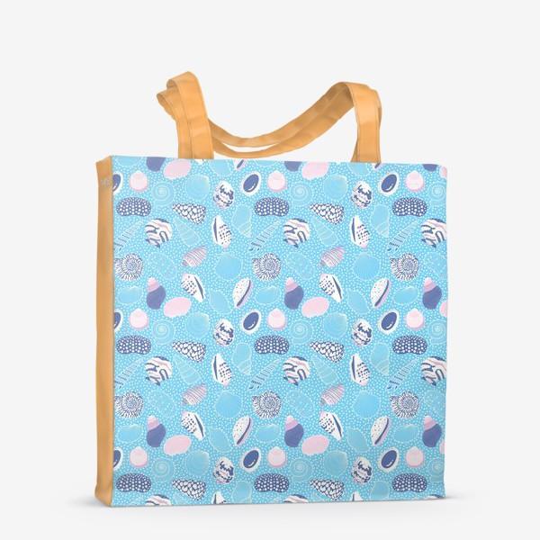 Сумка-шоппер «Морские ракушки паттерн»