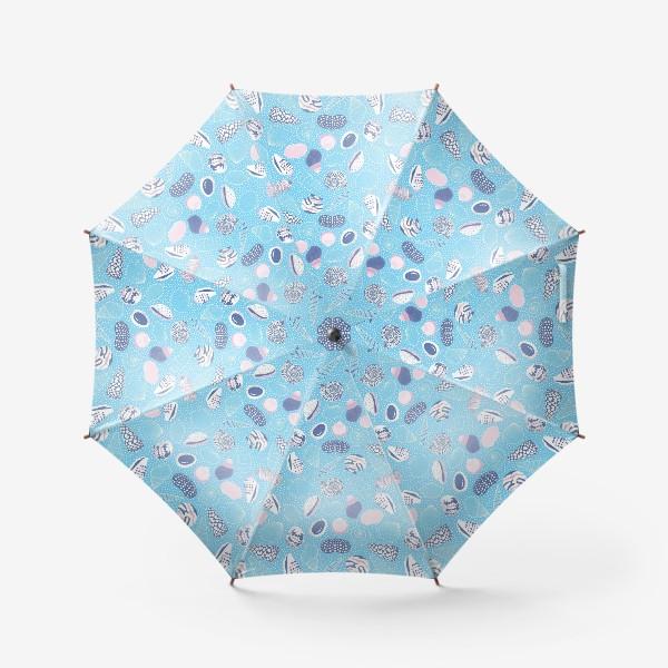 Зонт «Морские ракушки паттерн»