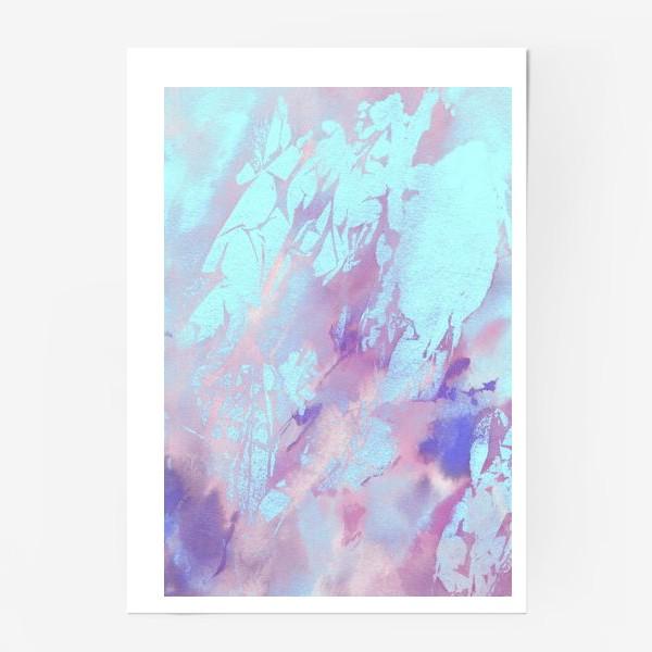 Постер «Абстракция. Розовый и голубой»