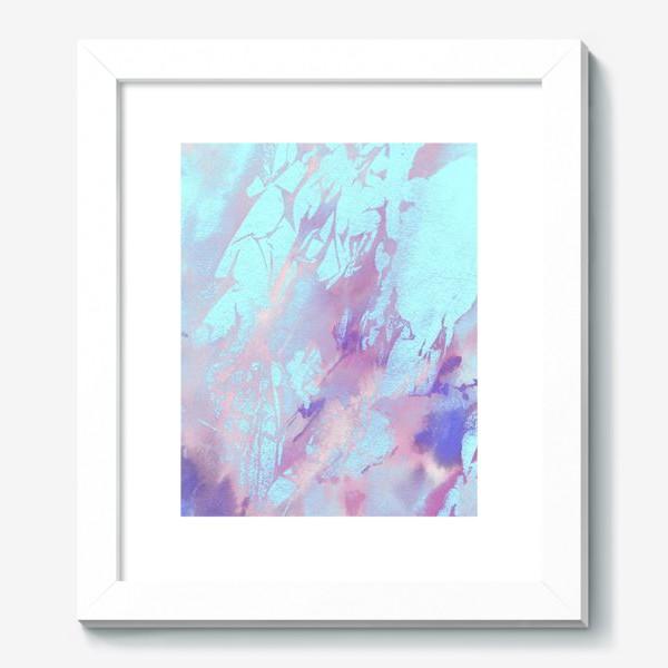Картина «Абстракция. Розовый и голубой»