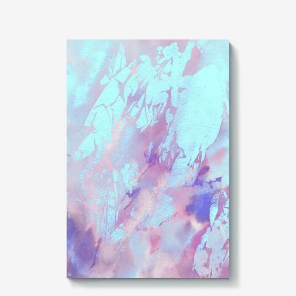 Холст «Абстракция. Розовый и голубой»