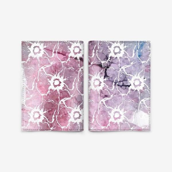 Обложка для паспорта «Яркие цветы анемоны»