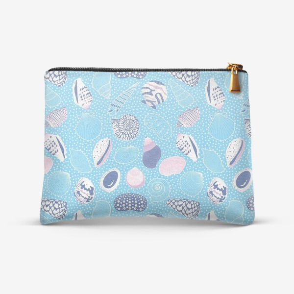 Косметичка «Морские ракушки паттерн»