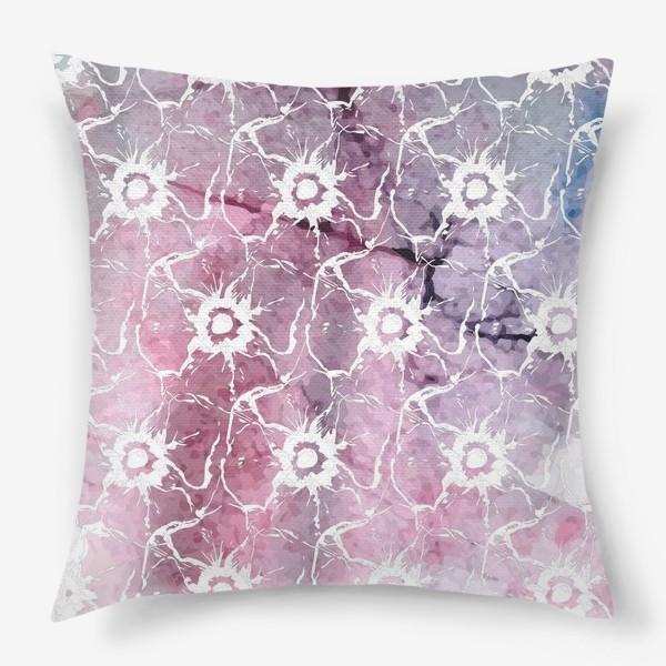 Подушка «Яркие цветы анемоны»