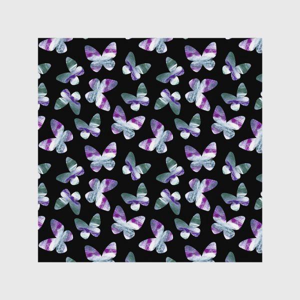 Шторы «Бабочки на черном фоне»