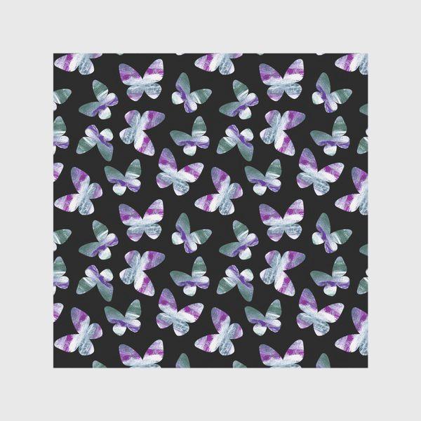 Скатерть «Бабочки на черном фоне»