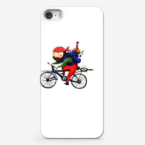 Чехол iPhone «Суровый Велосипедист»
