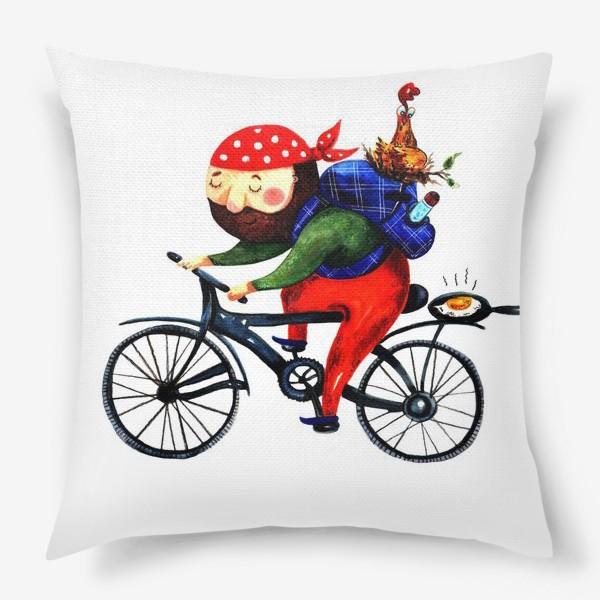Подушка «Суровый Велосипедист»