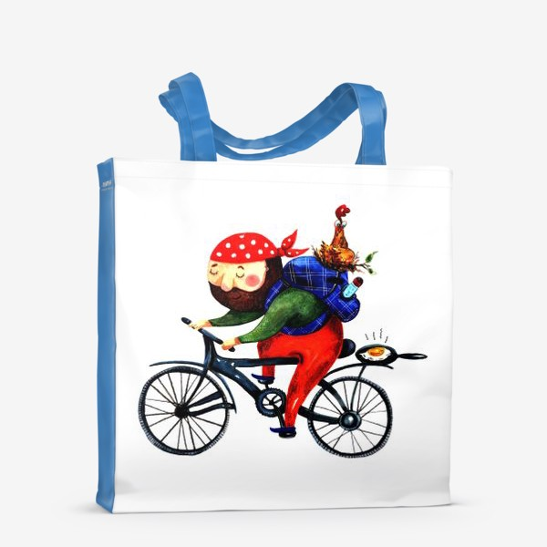 Сумка-шоппер «Суровый Велосипедист»