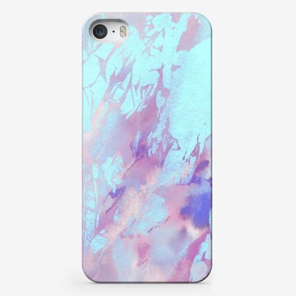 Чехол iPhone «Абстракция. Розовый и голубой»