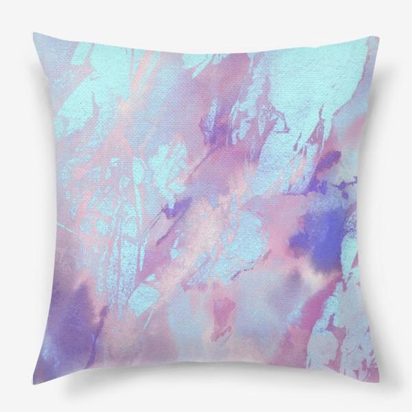 Подушка «Абстракция. Розовый и голубой»