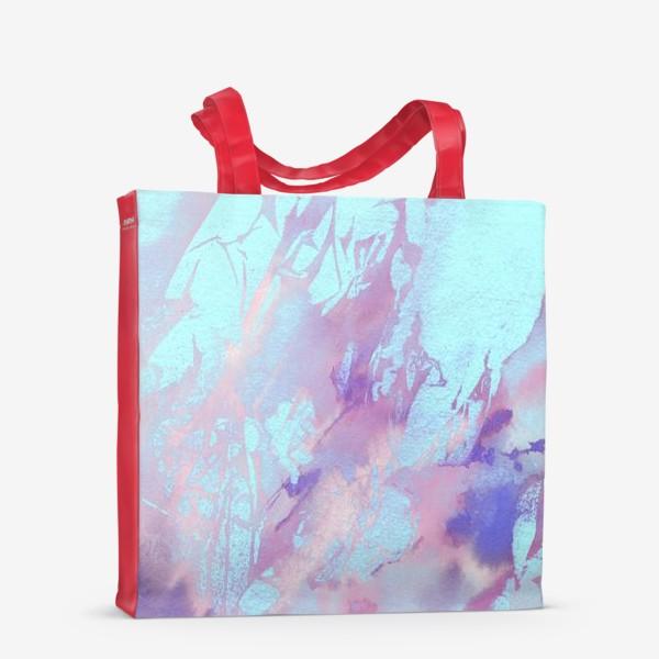Сумка-шоппер «Абстракция. Розовый и голубой»