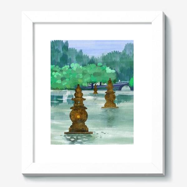 Картина «Лето на озере Сиху. Хангжоу. Виды Китая»